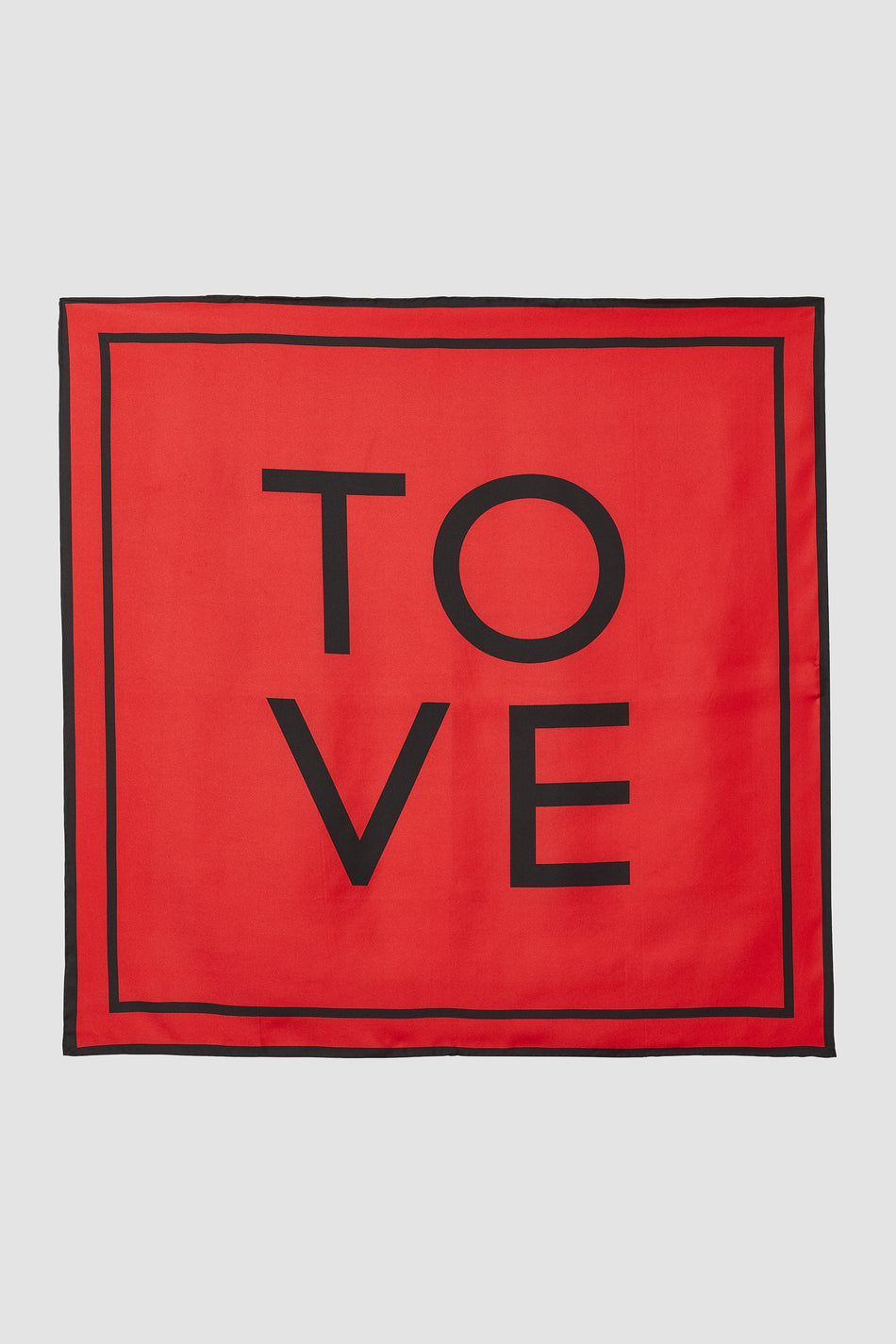 Tove Rowe Silk Scarf Carmine Red