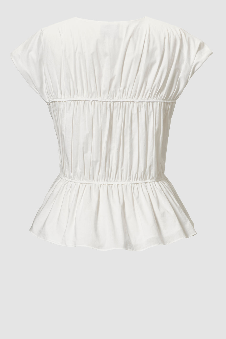 Tove Thea Cotton Top White
