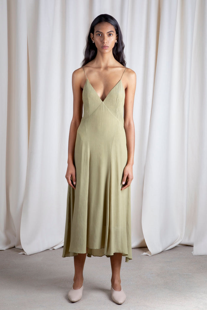 Celise Slip Dress Cedar Khaki