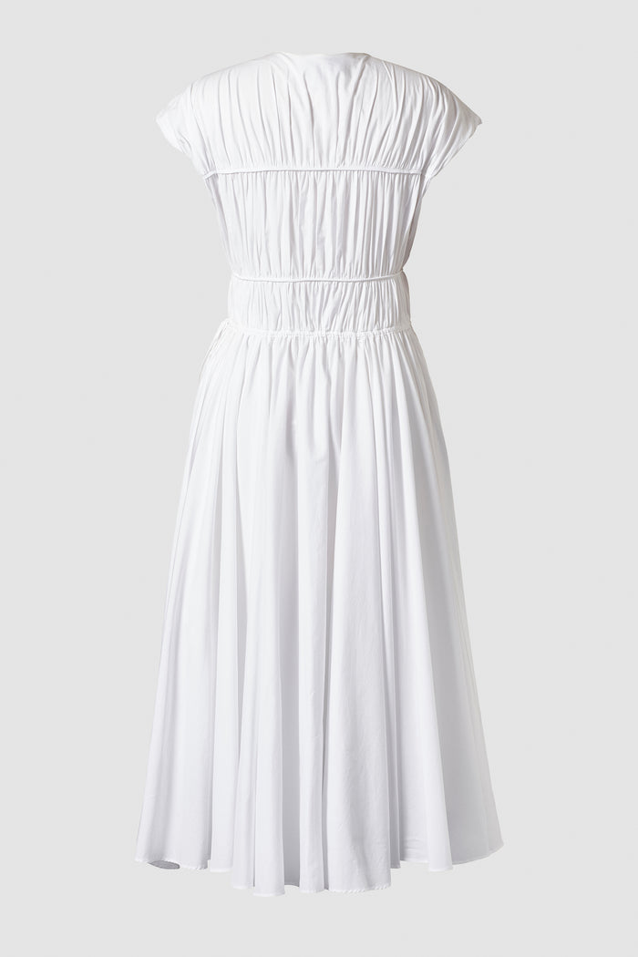 Ceres Organic Cotton Midi Dress White