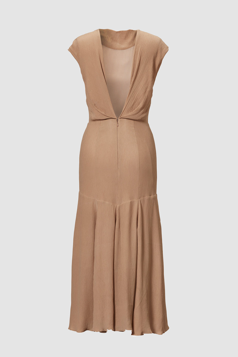 Tove Elodie Open Back Silk Dress Sand