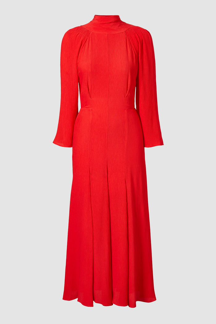 GAIA DRESS CARMINE RED
