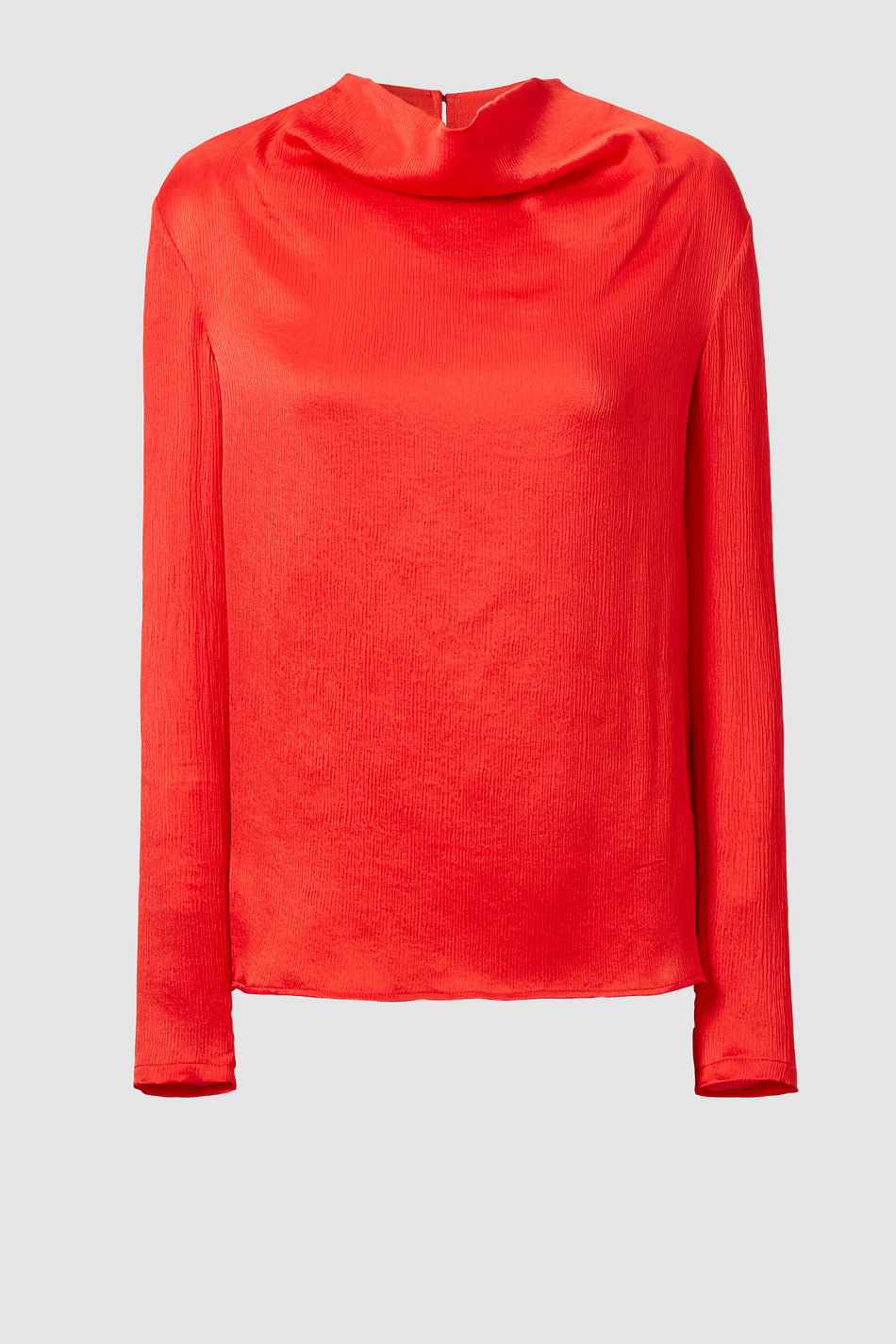 Tove Leone Long Sleeve Silk Top Red