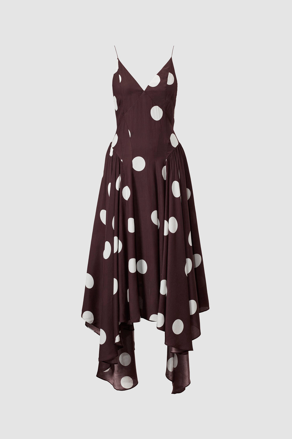Maren Slip Dress Chocolate Spot