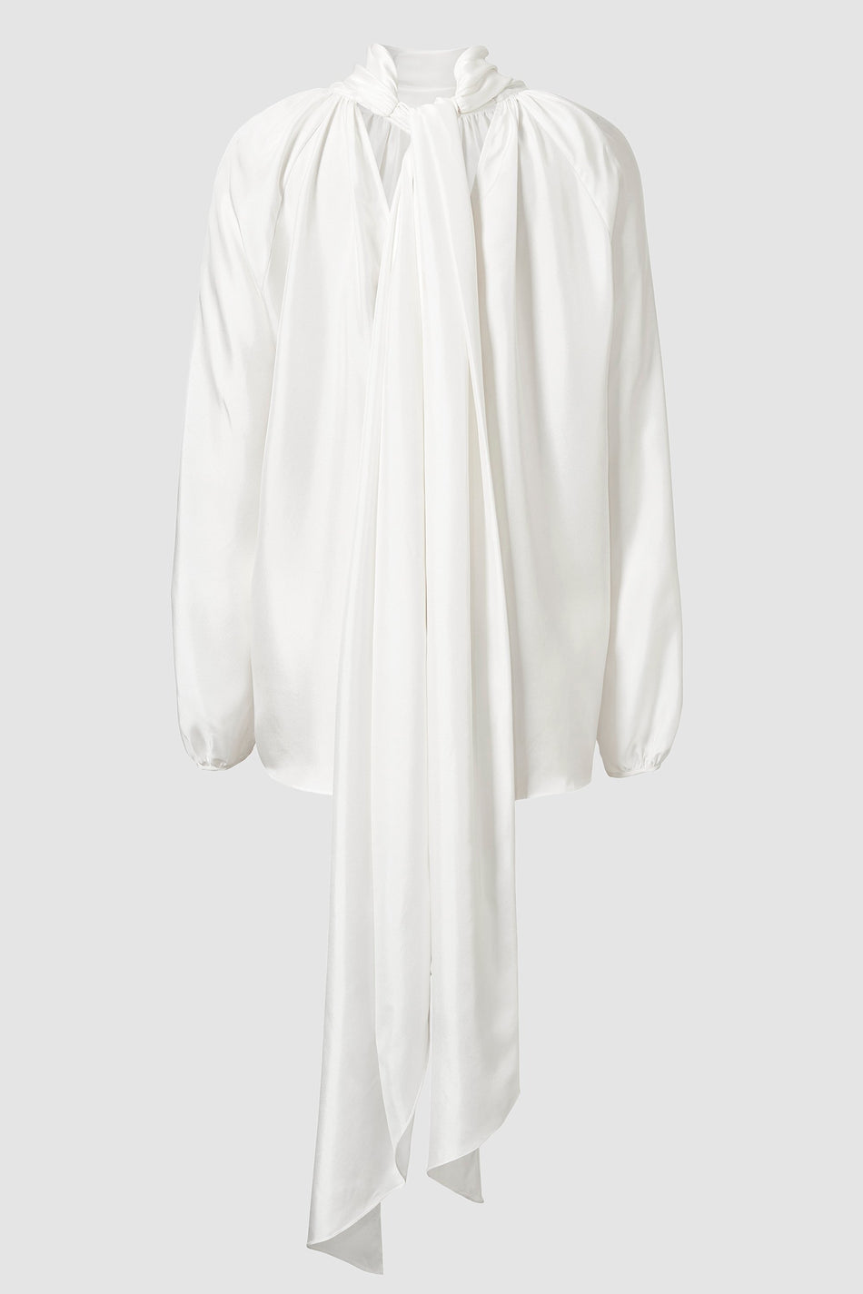 Tove Rey Long Sleeve Silk Top White
