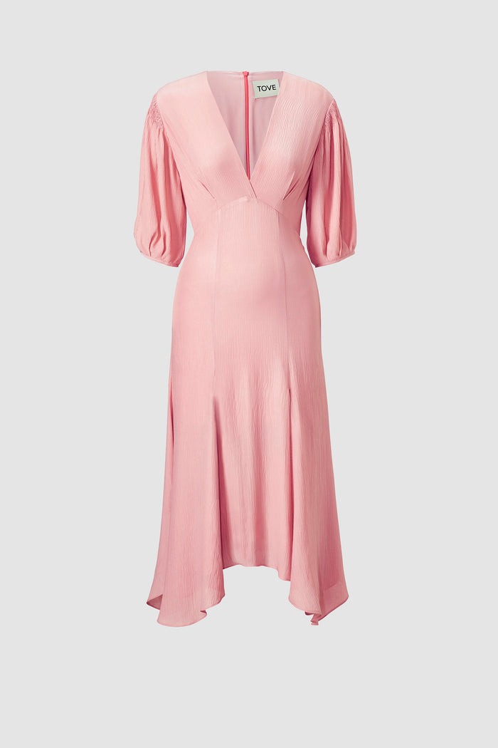 Tove Riven Silk Dress Pink