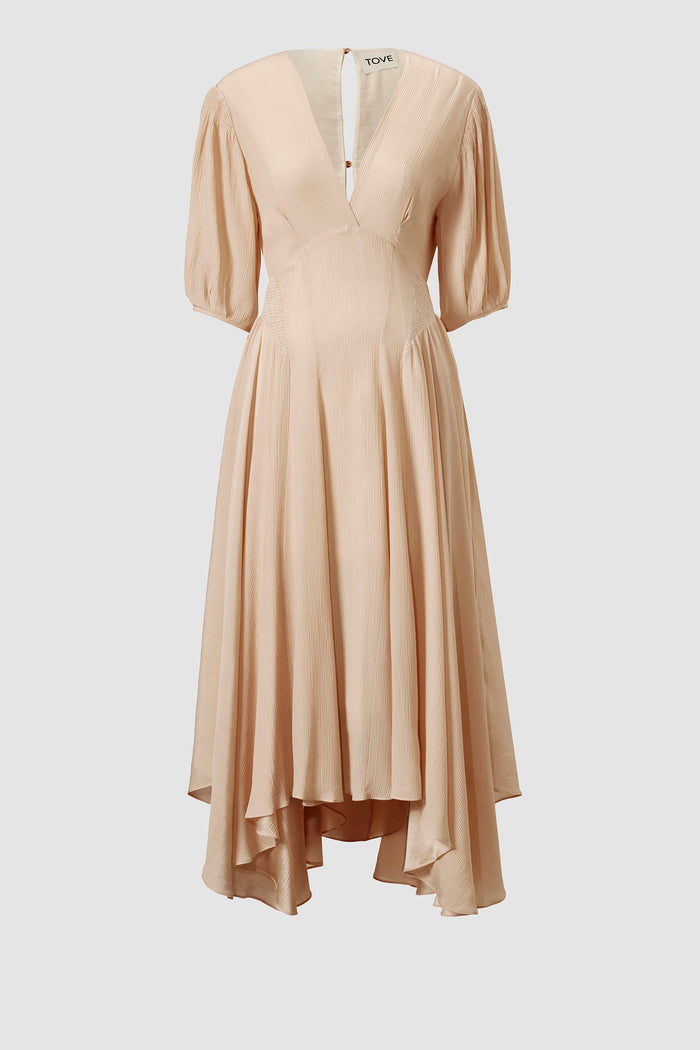 Tove Veda Silk Dress Buff