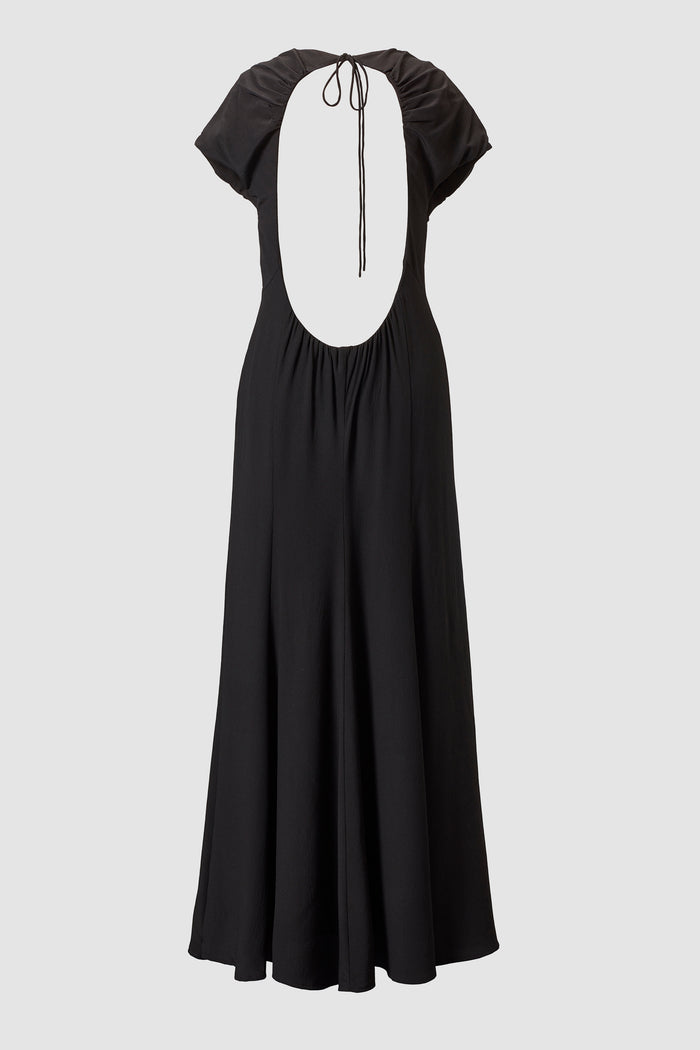 Tove Yves Keyhole Back Maxi Dress Black