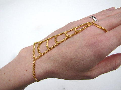 Gold Ladder Hand Chain