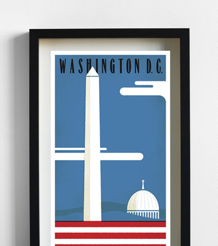 Washington DC Travel Print