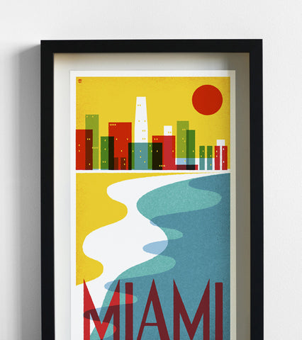 Miami Travel Print