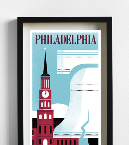 Philadelphia Travel Print