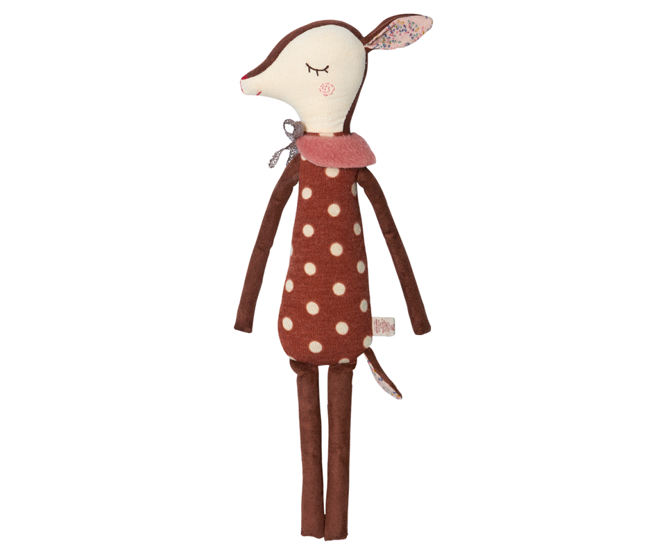 Maileg Bambi Deer Doll, Medium (Dots)