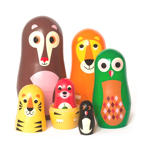Ingela Arrhenius Animals Nesting Dolls