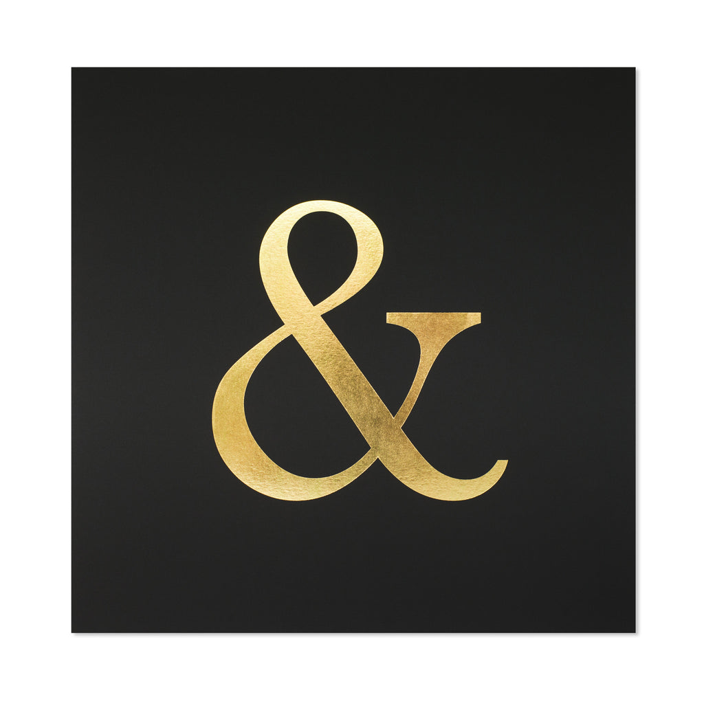 Sugar Paper Gold & Black Ampersand Letterpress Art Print