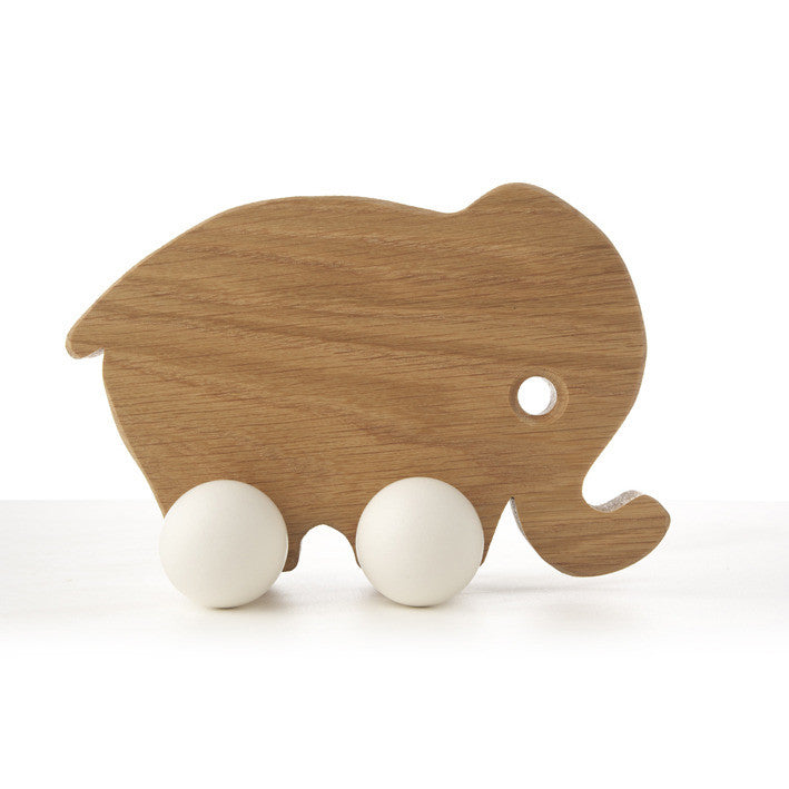 Mama Elephant Wooden Push Toy