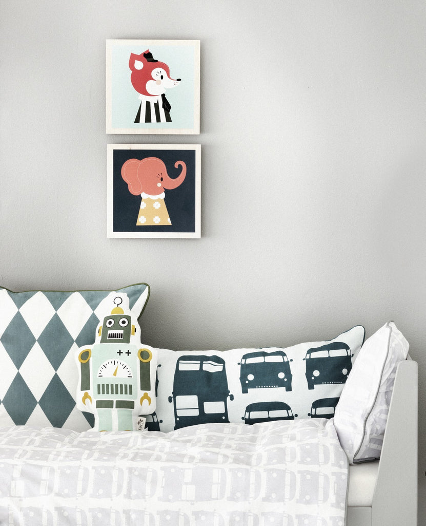 Ferm Living Mr. Frank the Fox Wooden Picture