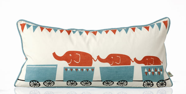 Ferm Living Tiny Train Pillow