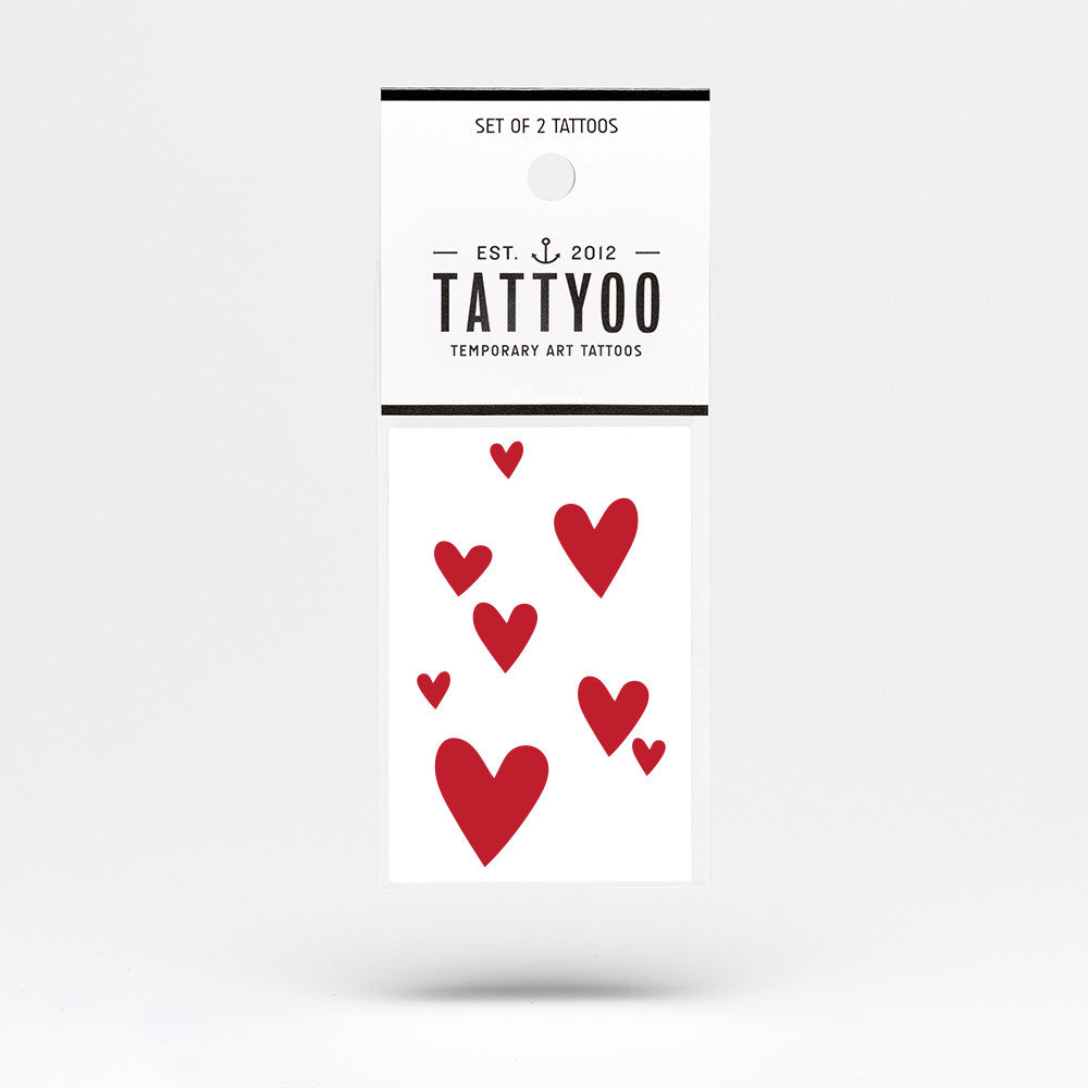 Tattyoo Temporary Art Tattoo - Hearts
