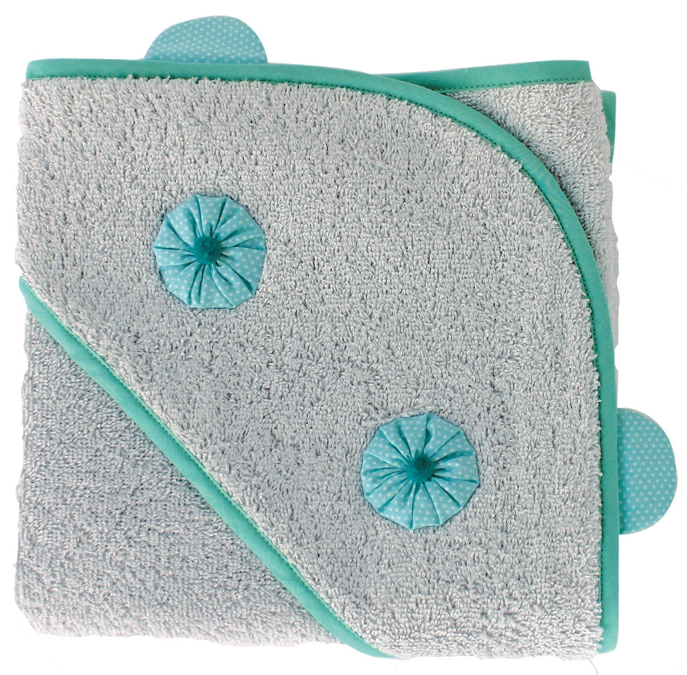 Nanana Hooded Towel - Blue w/ Dots