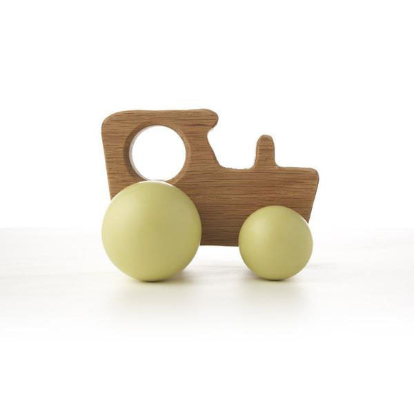 Hop & Peck Handmade Wooden Tractor Toy - Red