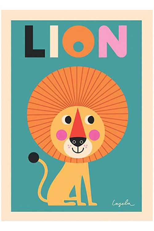 OMM Design Lion Poster
