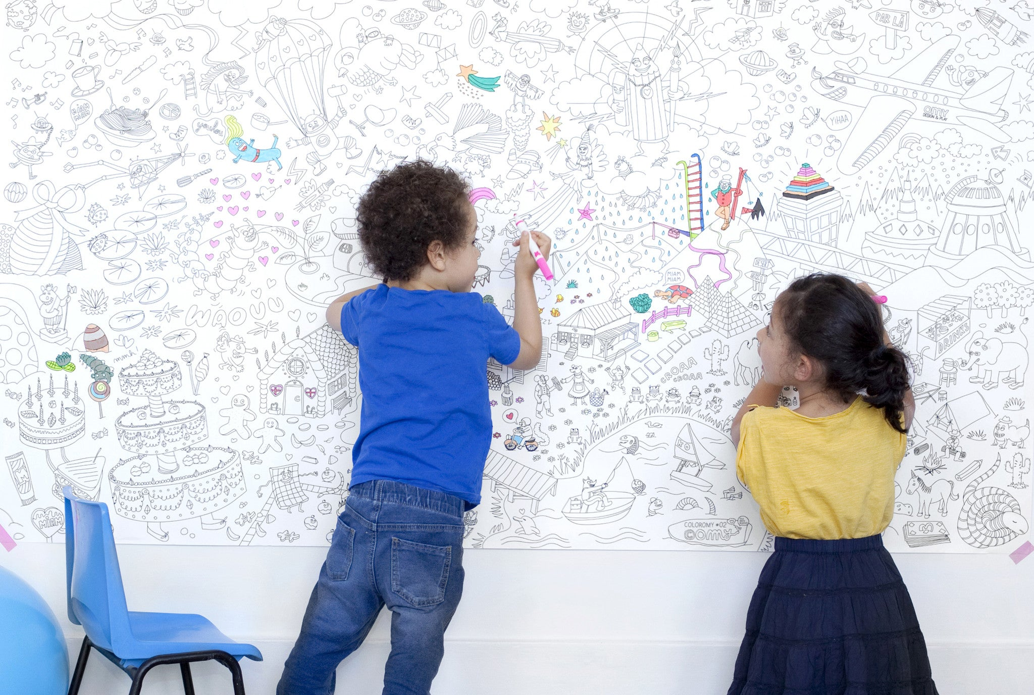 OMY Design Play Giant Coloring Page Perfectly Smitten