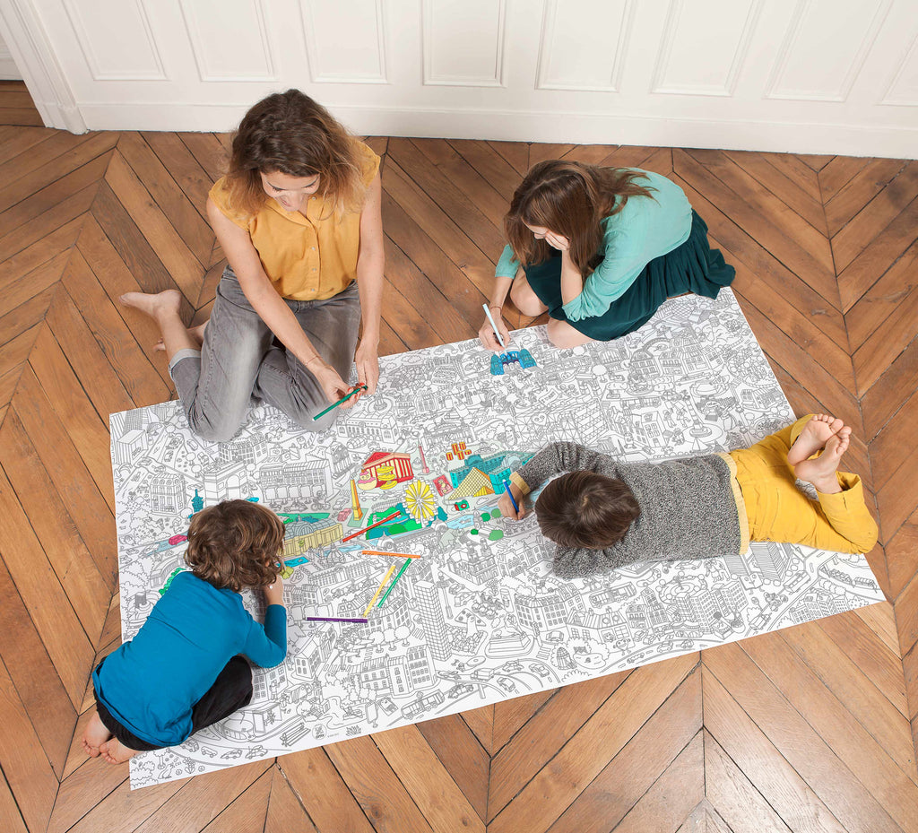 OMY Design & Play Giant Coloring Page - Paris