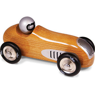 Natural Wood Vintage Sports Car