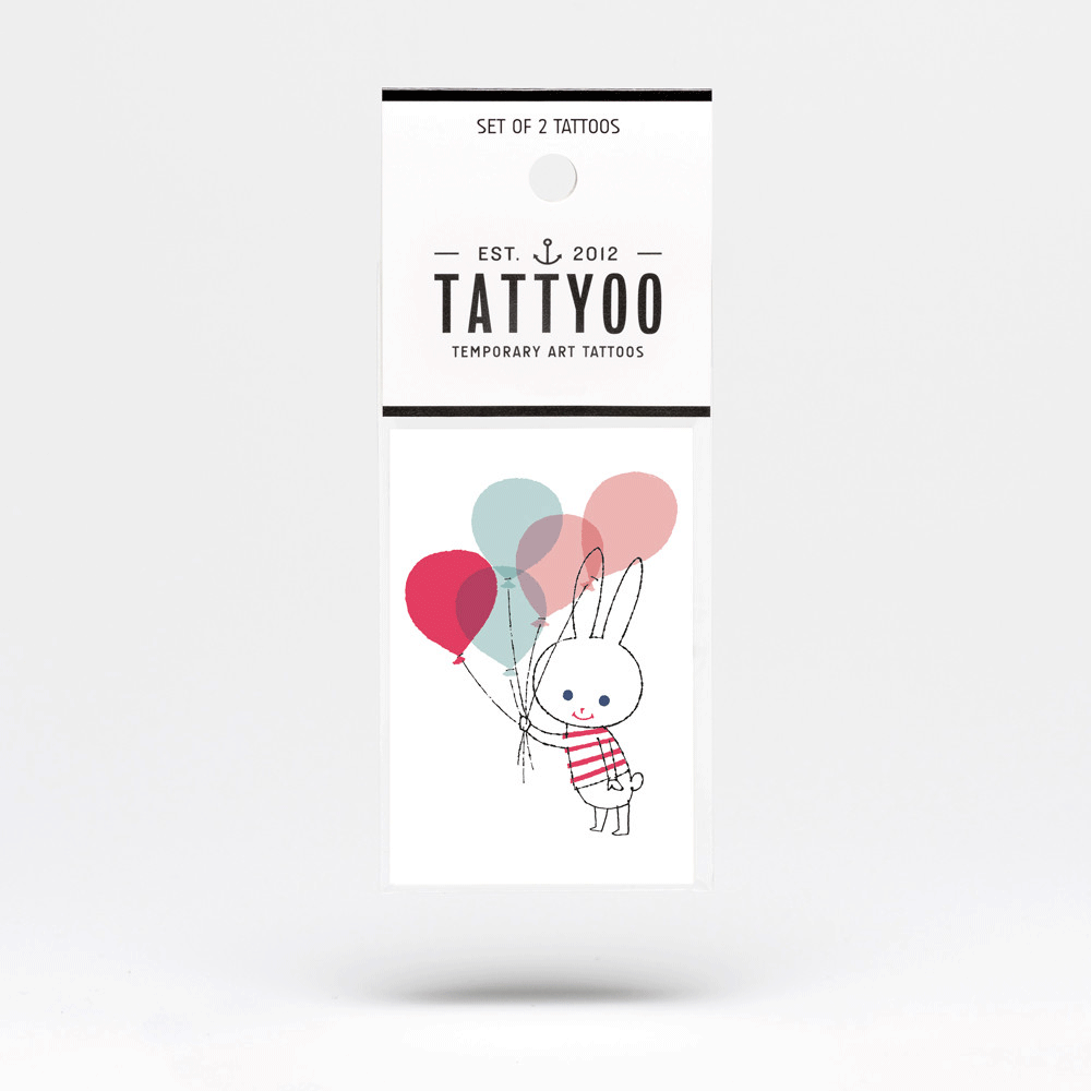 Shinzi Katoh Temporary Tattoo - Mon Peluche