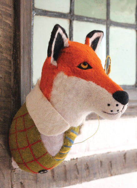 Finley the Fox Trophy Head by Sew Heart Felt
