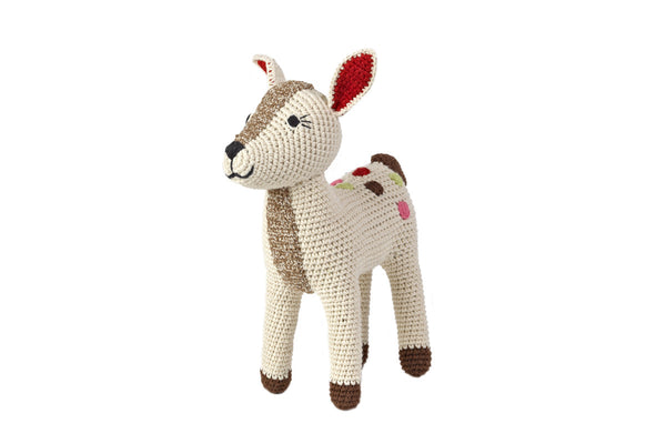 Anne-Claire Petit Organic Cotton Crocheted Baby Deer Doll