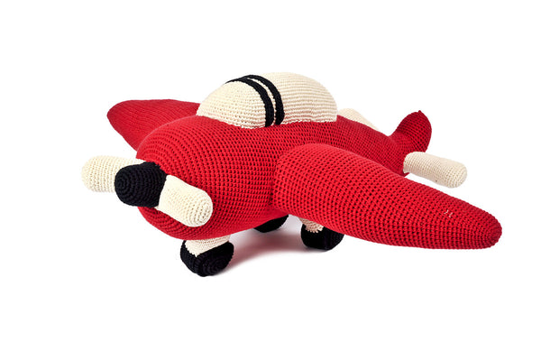 Anne-Claire Petit Crocheted Airplane at www.perfectlysmitten.com