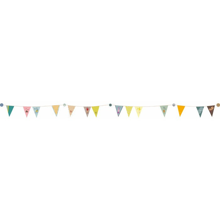 Mimi'Lou Bunting Wall Sticker
