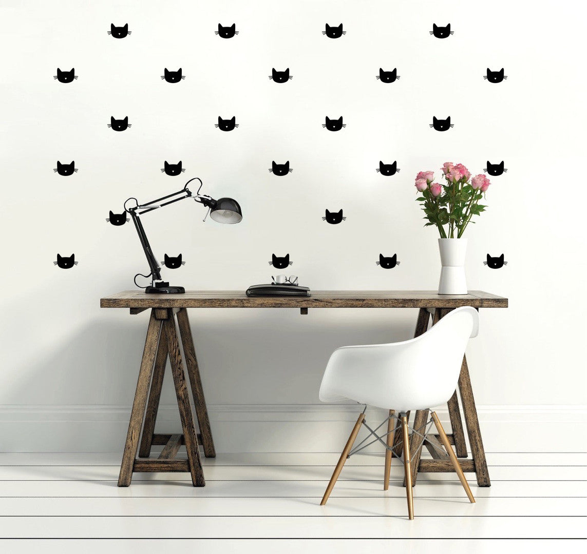 Wall stickers cat -  P M Cat Wall Stickers