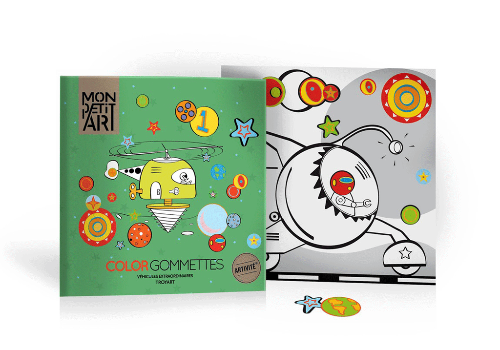 Mon Petit Art Extraordinary Vehicles Coloring Book