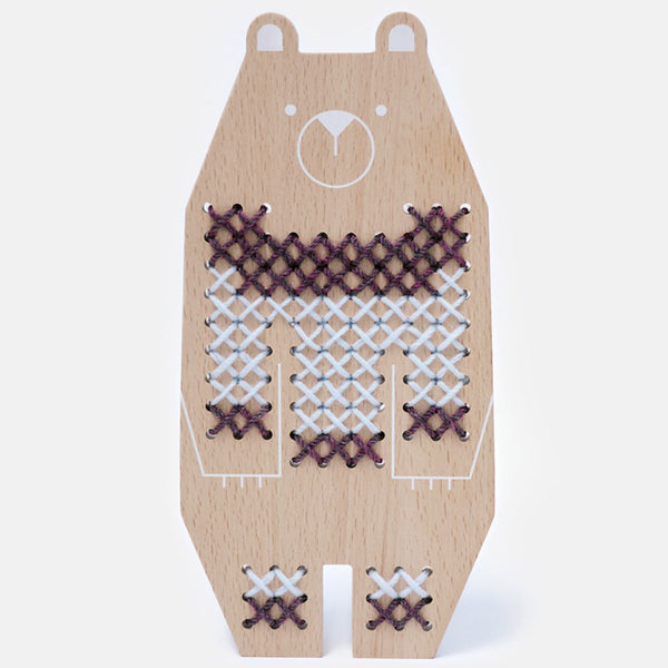 Moon Picnic Cross Stitch Animal - Bear