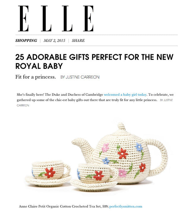 Anne Claire Petit Crocheted Tea Set Featured in Elle