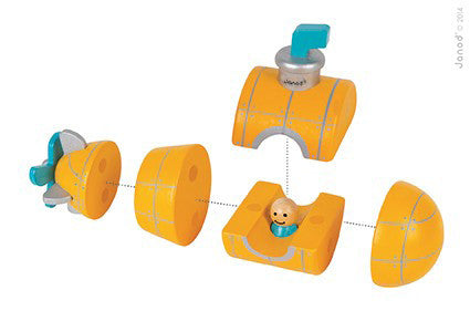 Janod Magnetic Yellow Submarine Wooden Toy at www.perfectlysmitten.com