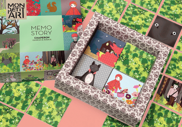 Mon Petit Art Little Red Riding Hood Memory Game