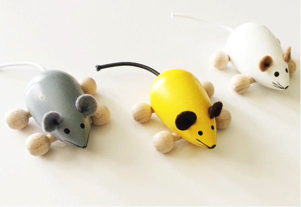 Wooden Mice With Wheels