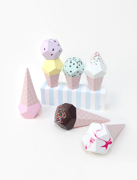 Moon Picnic Paper Ice Cream