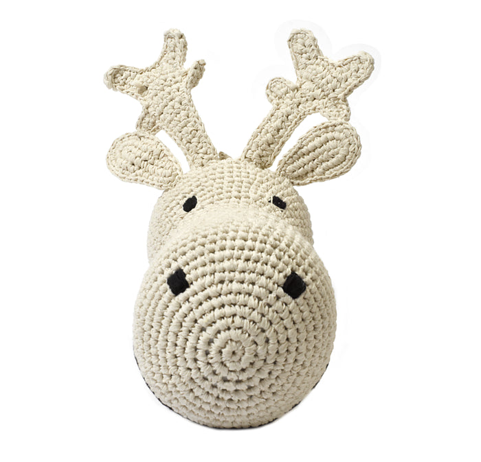 Anne-Claire Petit Crocheted Reindeer Trophy Head