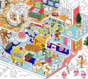 OMY Christmas Factory Coloring Poster