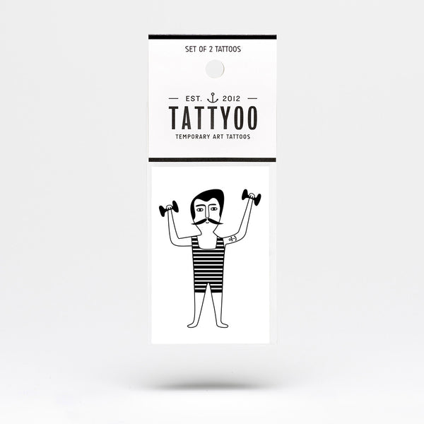 Tattyoo Temporary Art Tattoo - Strongman