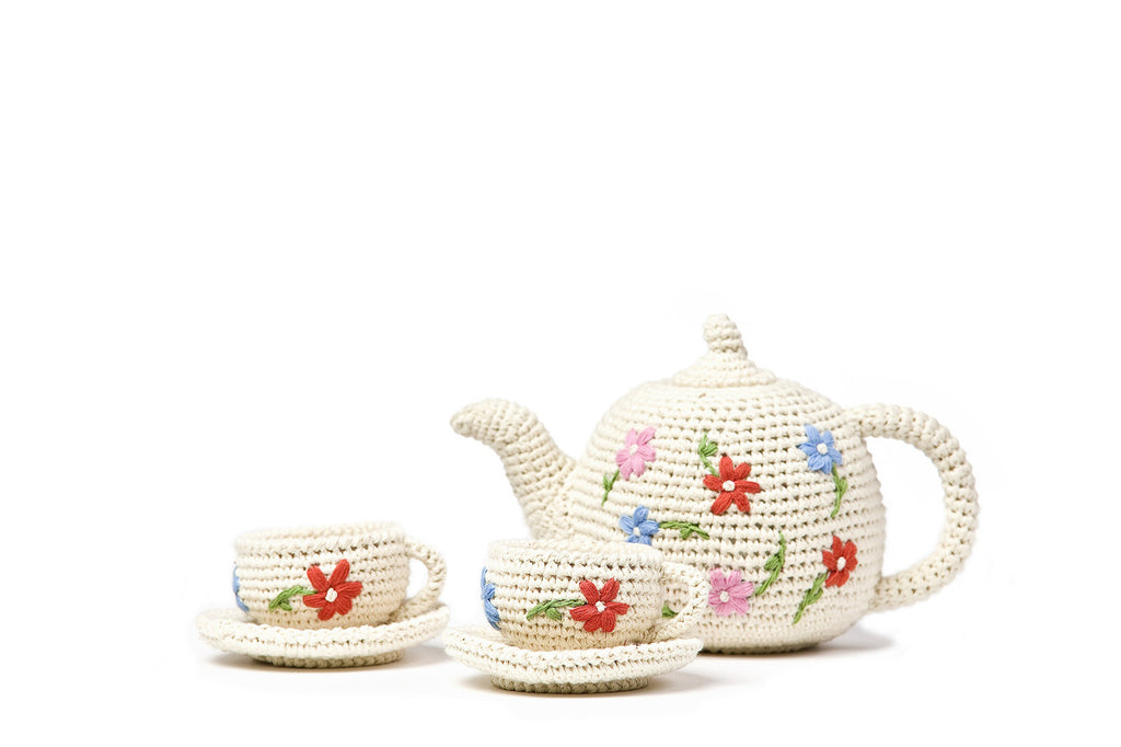 Anne Claire Petit Crocheted Tea Set
