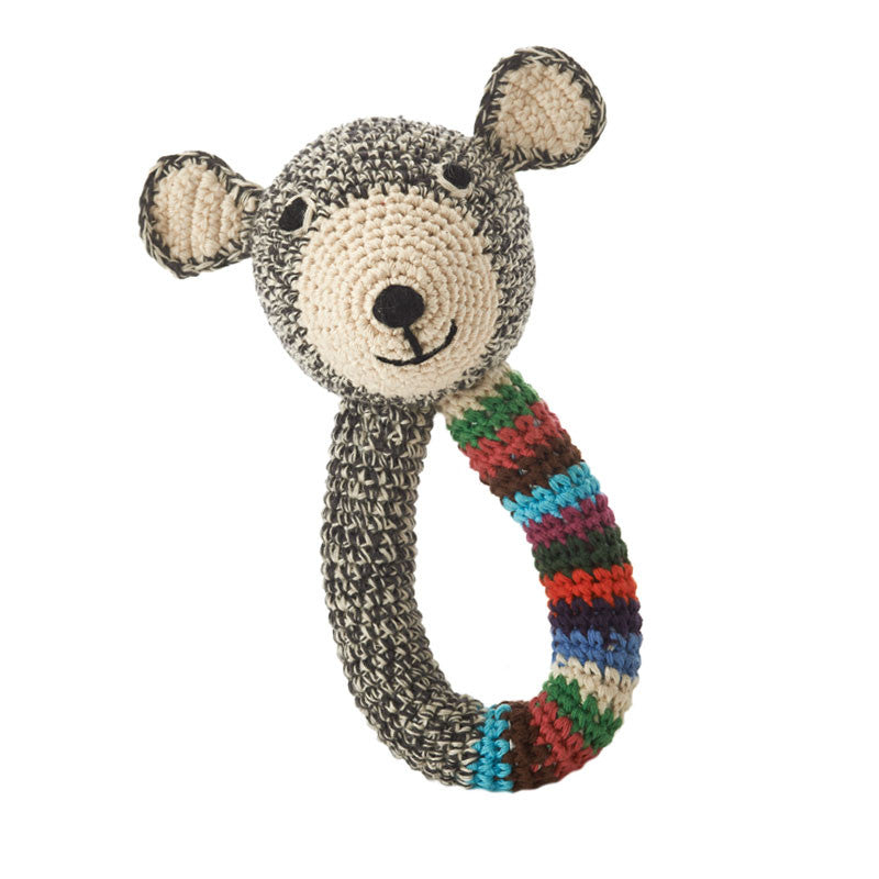 Anne-Claire Petit Striped Teddy Rattle