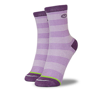 The Alise kids purple striped socks