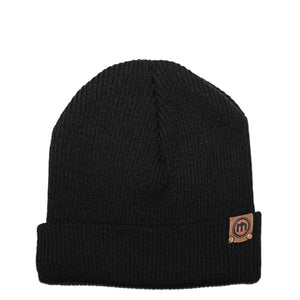 Black Adjustable Cuffed Beanie