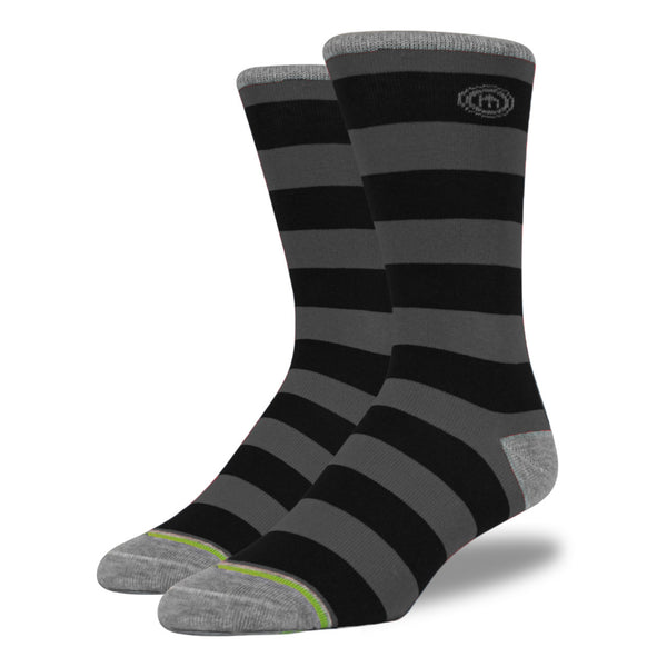 The BlackOut mens black striped socks